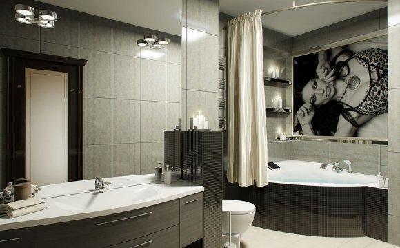 Дизайн модной ванной комнаты