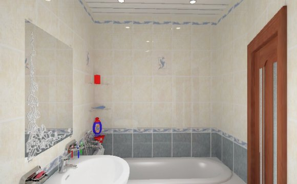 Простые дизайны ванной комнаты