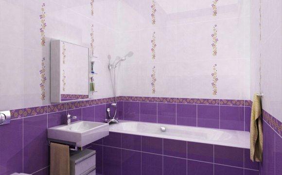 расцветка плитки в ванную