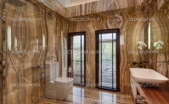 Современная мраморная ванная