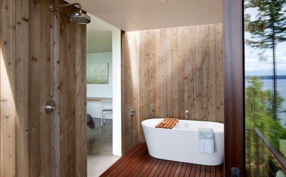 Дизайны ванн в дачных домах