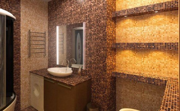 Отделка ванной комнаты с